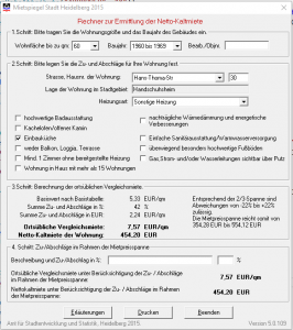 Mietspiegel Heidelberg